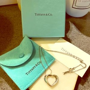 Authentic Tiffany Open Heart Silver Necklace